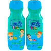 Shampo + Condicionador Lorys Baby Calendula Ph Neutro Cabelos Macios Hidratados Perfumados 500Ml