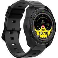 Smartwatch Monitor Cardíaco Q-Touch Bluetooth Qsw13 Preto