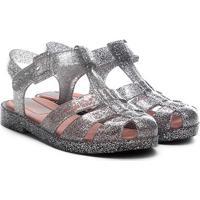 Sandália Infantil Grendene Kids Barbie Glitz - Feminino-Prata