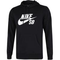 Blusão De Moletom Com Capuz Nike Sb Icon Hoodie Po Essential - Masculino - Preto