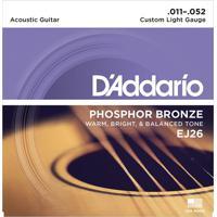 Encordoamento De Violão Phosphor Custom Light 0.11 Ej26 D Addario