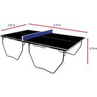Mesa De Ping Pong / Tênis De Mesa Klopf Oficial Black Edition - 15 Mm - Unissex