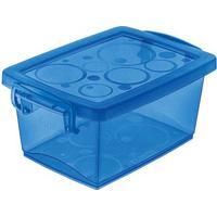 Caixa Organizadora Com Trava 7,5 Litros Azul Ordene