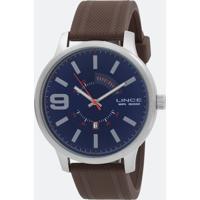 Kit Relógio Masculino Lince Mrph056S Analógico Calendário 5 Atm + Canivetepulseirasilicone