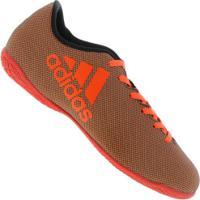 Chuteira Futsal Adidas X 17.4 In - Adulto - Preto/Laranja Esc