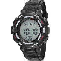 Kit De Relógio Digital Speedo Masculino + Fone De Ouvido - 81183G0Evnp2K1 Preto