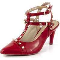 Sapato Bendito Conforto Spikes Verniz Scarlet Vermelho