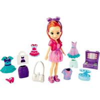 Boneca E Acessórios - Polly Pocket - Super Kit Fashion - Ruiva - Mattel