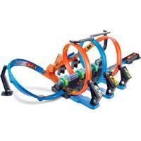 Pista De Percurso E Veículo - Hot Wheels - Corkscrew Crash - Mattel