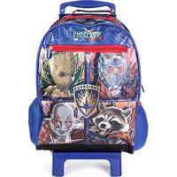Mala De Rodinha Escolar Infantil Dmw Guardians Of The Galaxy - Masculino-Azul