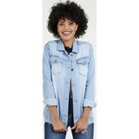 Jaqueta Feminina Jeans Bolsos Gups
