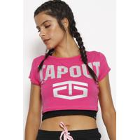 Blusa Cropped Tapout® - Rosa & Prateadatapout