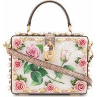 Dolce & Gabbana Bolsa Com Aplicação Floral - Rosa