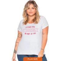 T-Shirt Feminina Estampada Básica Branco