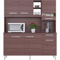 Cozinha 6 Portas Bárbara Capuccino/Off White Flex - Lc Móveis