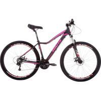 Mountain Bike South Bike Legend Pro - Aro 29 - Freio A Disco Mecânico - Câmbio Shimano - 21 Marchas - Preto/Rosa