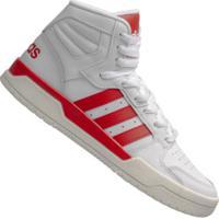 Tênis Cano Alto Adidas Entrap Mid - Masculino - Branco/Vermelho