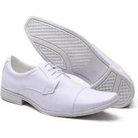 Sapato Social Versales Branco Masculino - Masculino-Branco