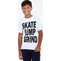 Camiseta Juvenil Manga Curta Frase Frontal Marisa