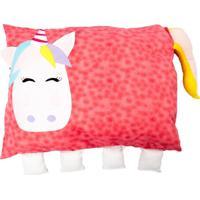 Travesseiro Colo De Mãe Unicórnio Rosa