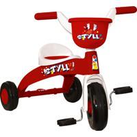 Triciclo Infantil Branco E Vermelho Styll