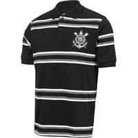 48f4eea26a9b9 Netshoes  Camisa Polo Corinthians Platinum Listrada Masculina - Masculino