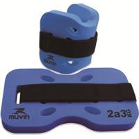 Caneleira Hidroginástica 2Kg A 3Kg Muvin Cnh-200 Azul