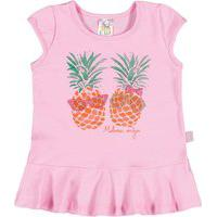 Blusa Feminino Bebê - Rosa Blusa Rosa - Bebê Menina - Cotton - Ref:34505-1-P