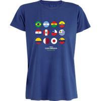 Camiseta Adams Básica Futebol - Feminina - Azul - Bandeiras Copa América 2019 - Azul