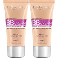 Kit Dia Dos Namorados Bb Cream L'Oreál Paris Dermo Expertise Base Clara 30Ml 2 Unidades - Feminino