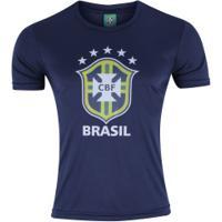 Camiseta Do Brasil Logo 19 - Masculina - Azul Escuro