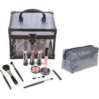 Maleta De Maquiagem Fenzza Fz-Mt98Gt-D Make Up Clear Grafite