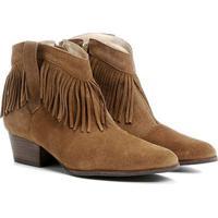 Bota Couro Country Shoestock Franja Feminina - Feminino