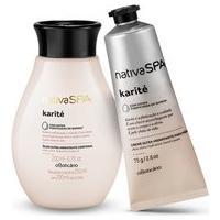 Combo Nativa Spa Karité: Óleo Hidratante Corporal, 200 Ml + Creme Para Mãos, 75G
