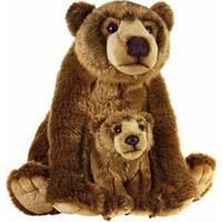 Urso Pardo De Pelúcia Com Filhote Nat Geo