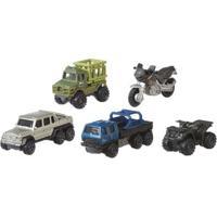 Carrinhos - Jurassic World 2 - Pack Com 5 Carrinhos - Exploradores De Terreno - Mattel
