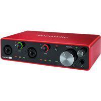 Interface De Áudio Usb Focusrite Scarlett 4I4 Terceira Geração