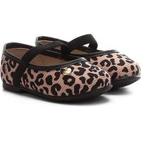 Sapatilha Infantil Molekinha Tecido Jaguar Color - Feminino-Bege