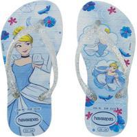 Chinelo Havaianas Infantil Slim Princesas Azul