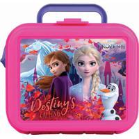Lancheira Frozen 2®- Pink & Lilás- 20X21X10Cm- Ddermiwil