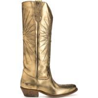Golden Goose Bota Cowboy Wish Star - Dourado