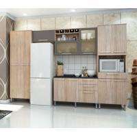 Cozinha Compacta Cheff Master I 11 Pt 4 Gv Carvalho E Grafite