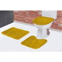 Kit Jogo Tapete De Banheiro Em Pelúcia 3 Peças