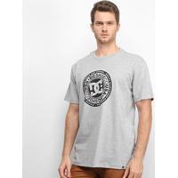 Camiseta Dc Shoes Basic Circle Star Masculina - Masculino-Cinza+Chumbo