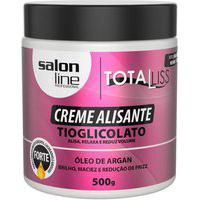 Creme Alisante Óleo De Argan Forte Salon Line 500Gr