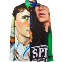 Etudes Camisa Com Estampa Gráfica - Preto