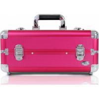 Maleta De Maquiagem Profissional Vazia Jacki Design Média Pink
