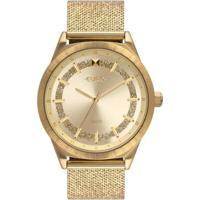 Relógio Euro 40Mm Aço Feminino - Feminino-Dourado