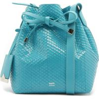 Emily Mini Bucket Bright Snake Cyan | Schutz