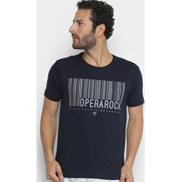 Camiseta Opera Rock Estampada Masculina - Masculino-Azul Escuro